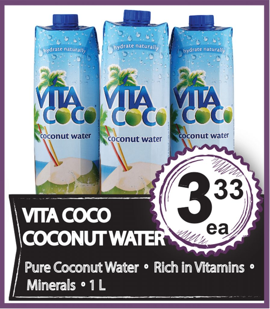 Coconut Water on Special - July4