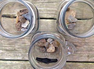 Jar and rocks - April 4